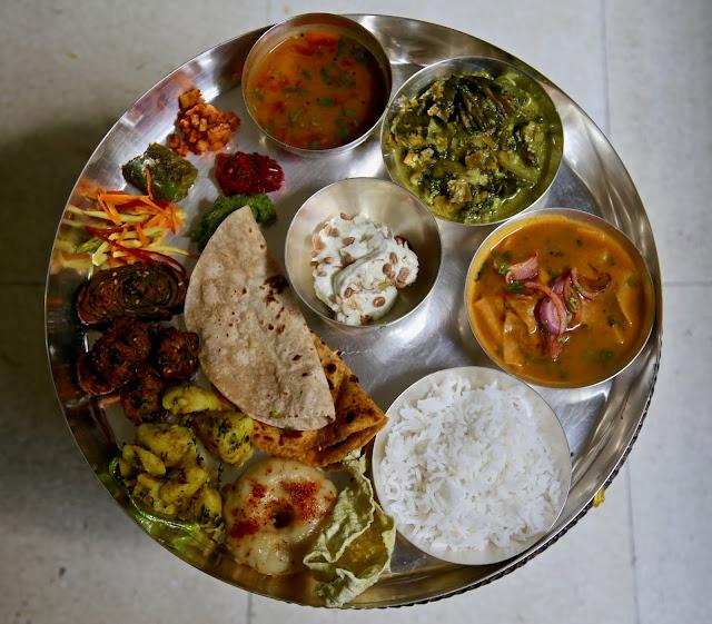Thali by Jyoti Vora, Bombay supper club via Authenticook pic: Kerstin Rodgers/msmarmitelover.com