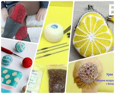 Tejer abalorios a crochet curso-métodos y trucos