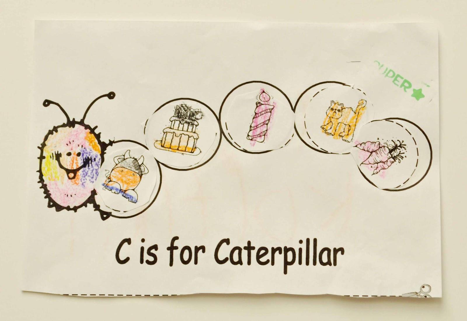 Children S Learning Activities Beginning Sounds Caterpillar