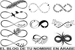 Diseños de Infinito en blanco y negro
