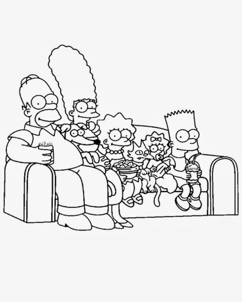 Simpson Characters Coloring Pages