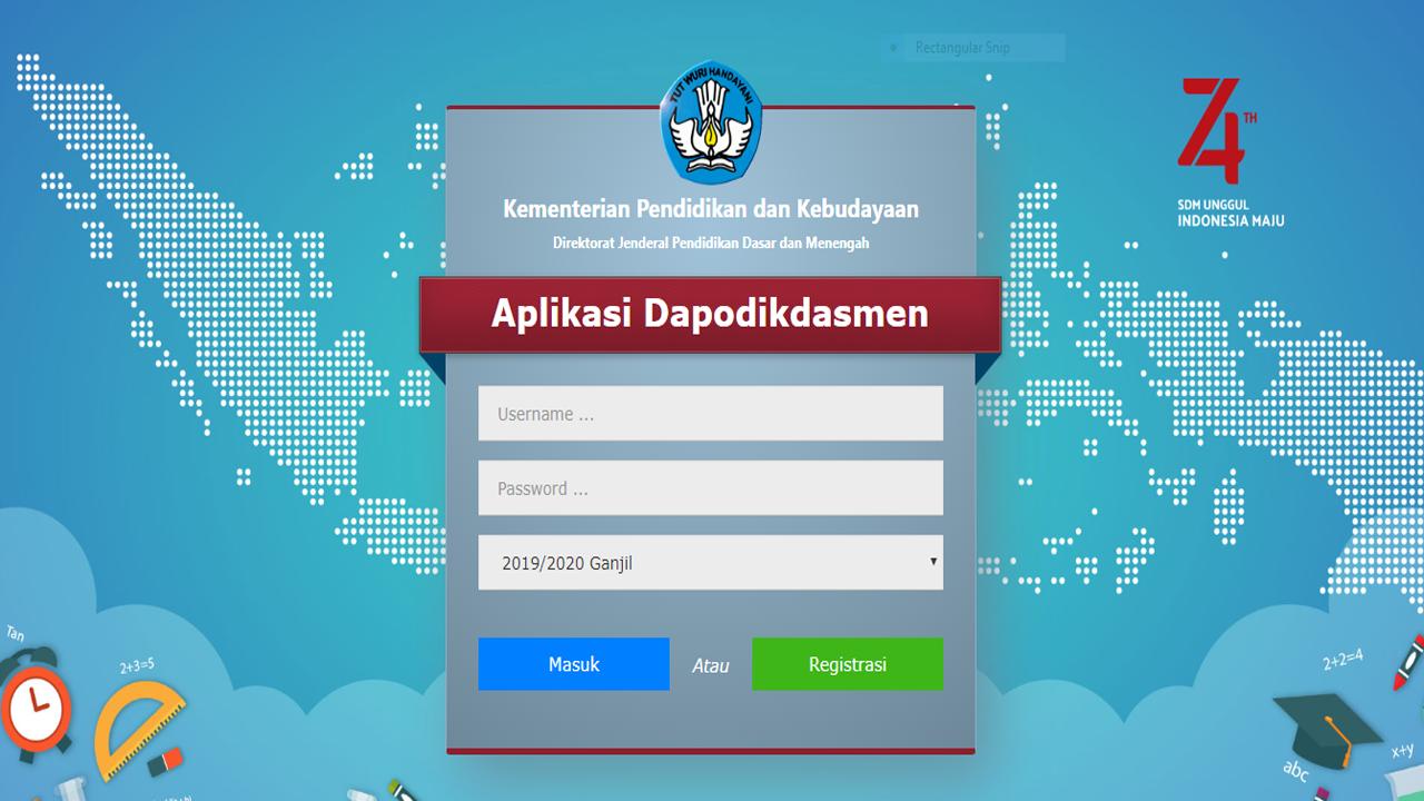 Registrasi Dapodik 2020