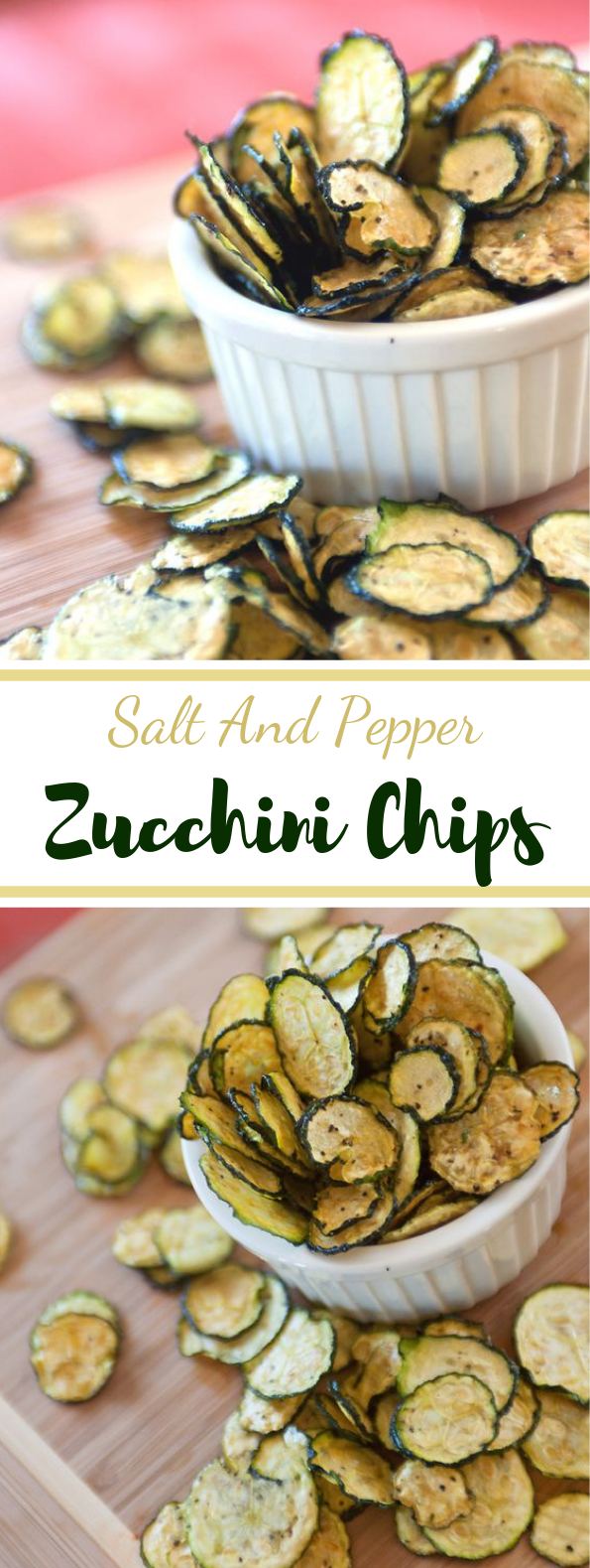 Salt And Pepper Zucchini Chips #vegan #chips