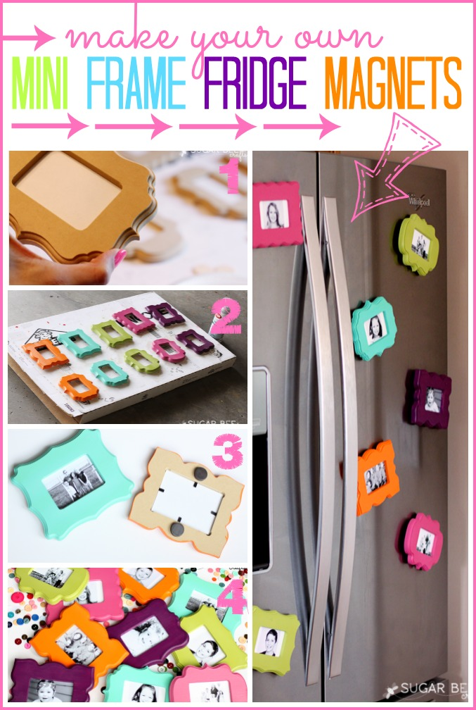 Mini Frame Fridge Magnets Sugar Bee Crafts