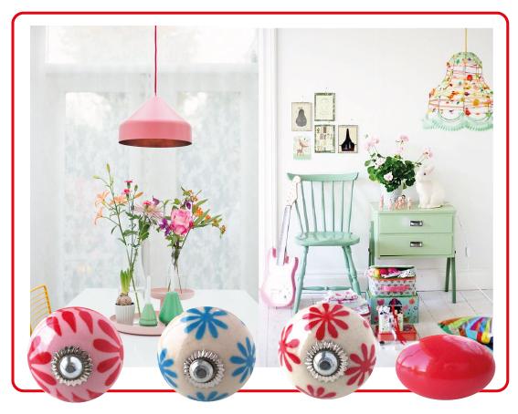 boutons-de-meuble fleur