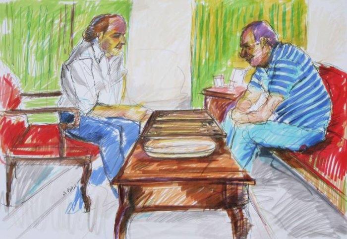 Иранский художник. Mani Gholami