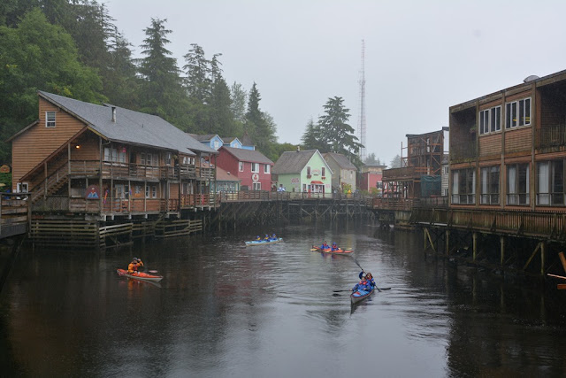 Ketchikan Creek Street canoe