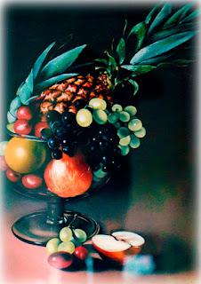frutas pintadas à óleo