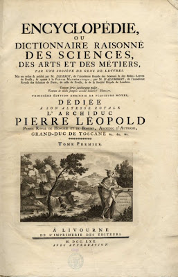 French Encyclopédie, frontespice