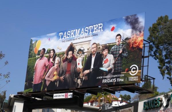 Taskmaster series premiere billboard