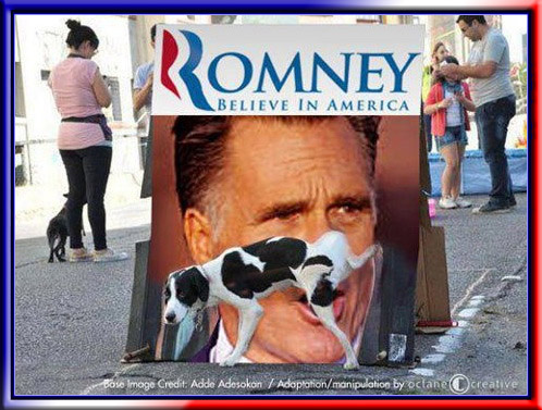 Political Memes Dogs Against Romney Literally