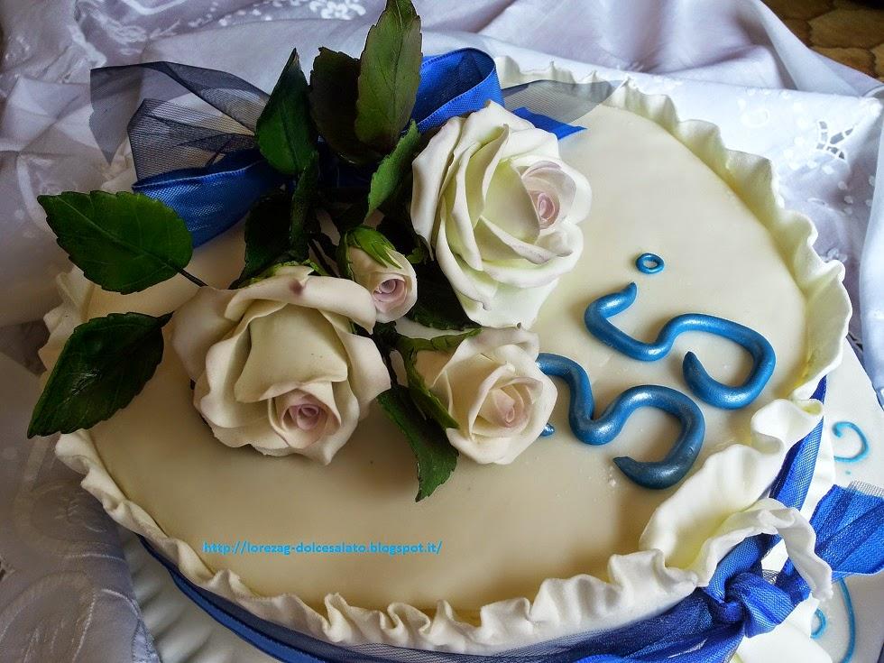 Immagini Anniversario Di Matrimonio 35 Anni.Le Torte Di Lorena E Non Solo Torta 35 Anniversario
