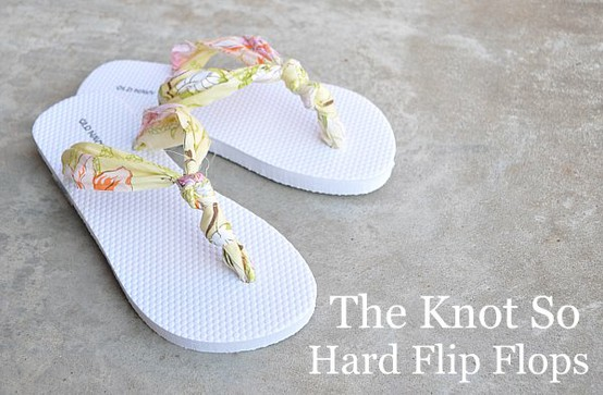 1777a01ff Flip Flop Refashion. Did you see this flip flop makeover   Cute right