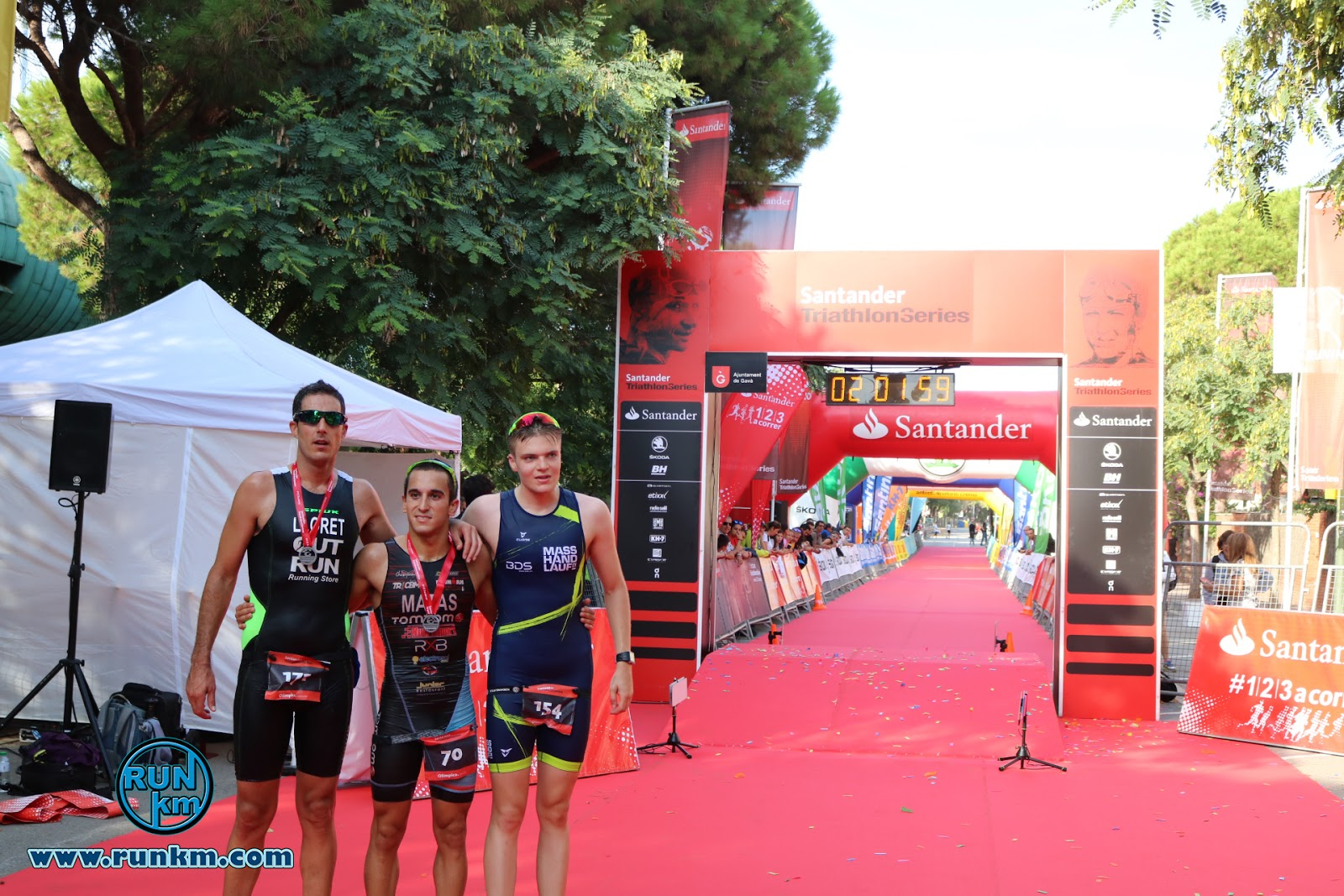 Podio Masculino Santander Triathlon Series Gavà 2017