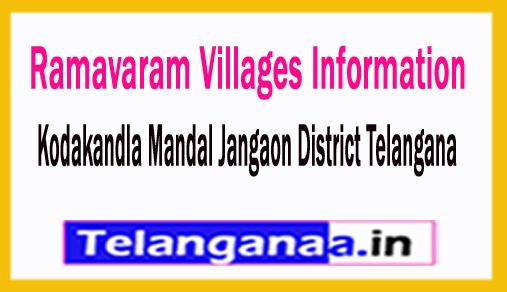 Ramavaram Villages in Kodakandla Mandal Jangaon District Telangana