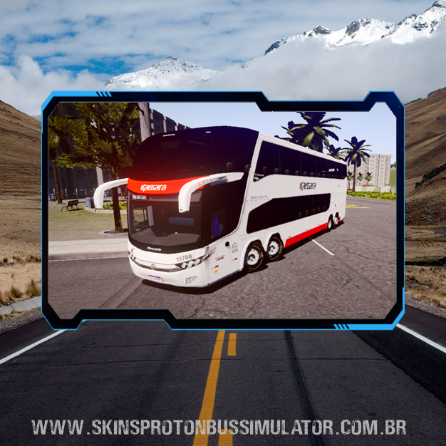 Skin Proton Bus Simulator - G7 1800 DD Volvo B450R 8X2 Viação Kaissara