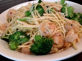 Shrimp Spaghetti made with Barilla Classic Blue Box Spaghetti #WonderfulYourWay
