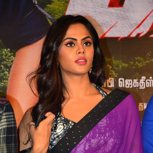 Karthika Nair hot photos in saree from Vaa Movie Press Meet
