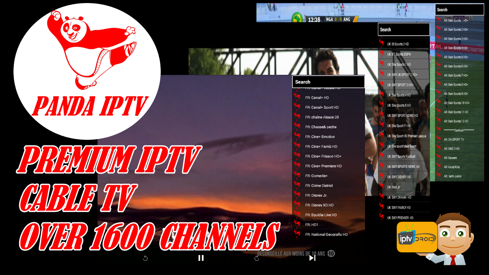 PANDA IPTV: PREMIUM IPTV APK + OVER 1600 CHANNELS + ACTIVATION CODE