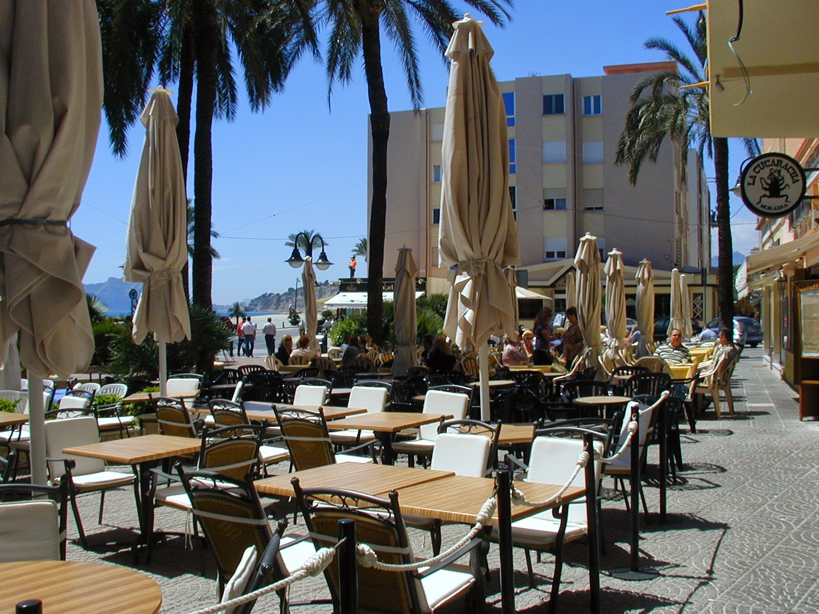 There are lots of great bars around Moraira's marina area