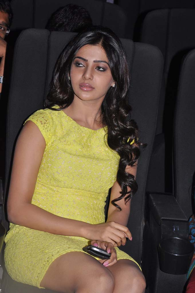 Samantha sleeping Photos In Yellow Dress