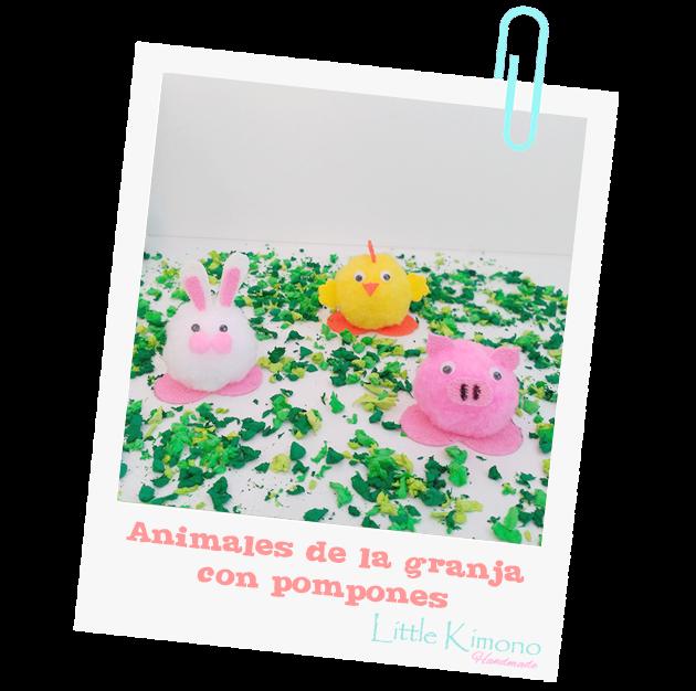Pompones: Animales de la Granja