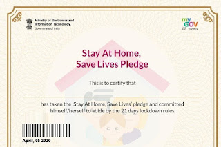 Download Stay At Home Certificate FOR CORONA || https://pledge.mygov.in/stayathome/