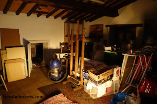 Tuscany Italy moving into art studio space