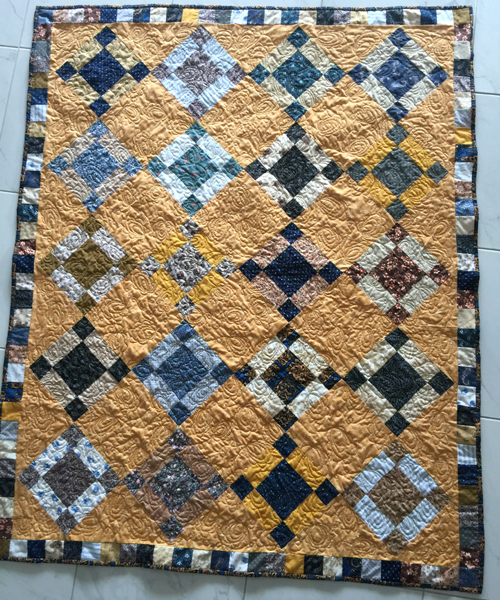 Uneven Nine Patch Quilt Pattern Antique Style