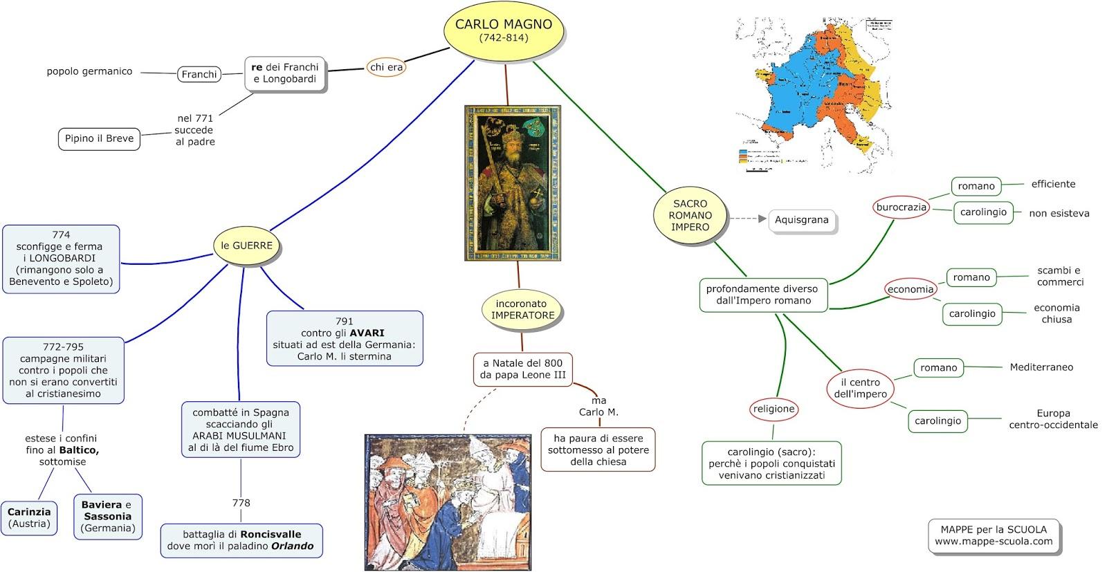 Preferenza MAPPE per la SCUOLA: CARLO MAGNO, L'IMPERO CAROLINGIO RF89
