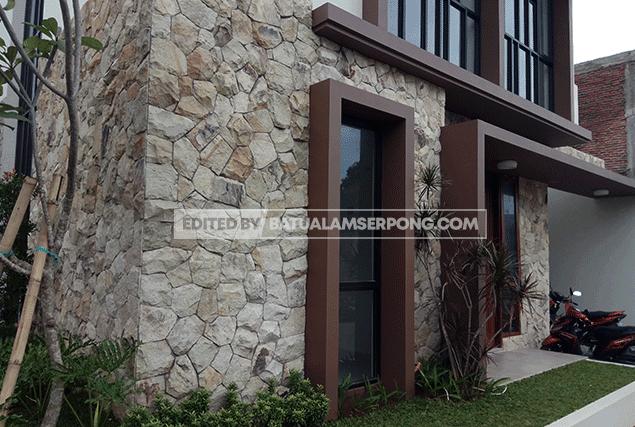 model batu alam dinding