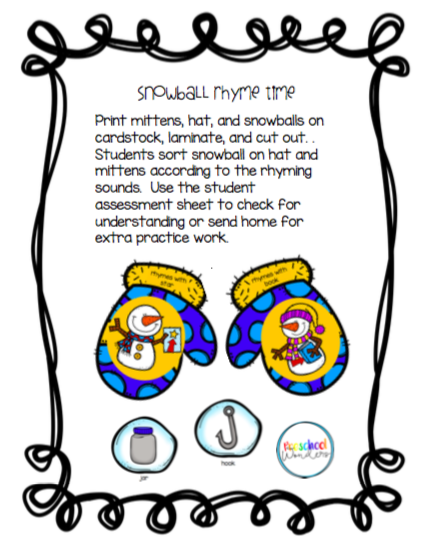 Preschool wonders snow day winter themed activities number bonds with student practice pages ibookread ePUb