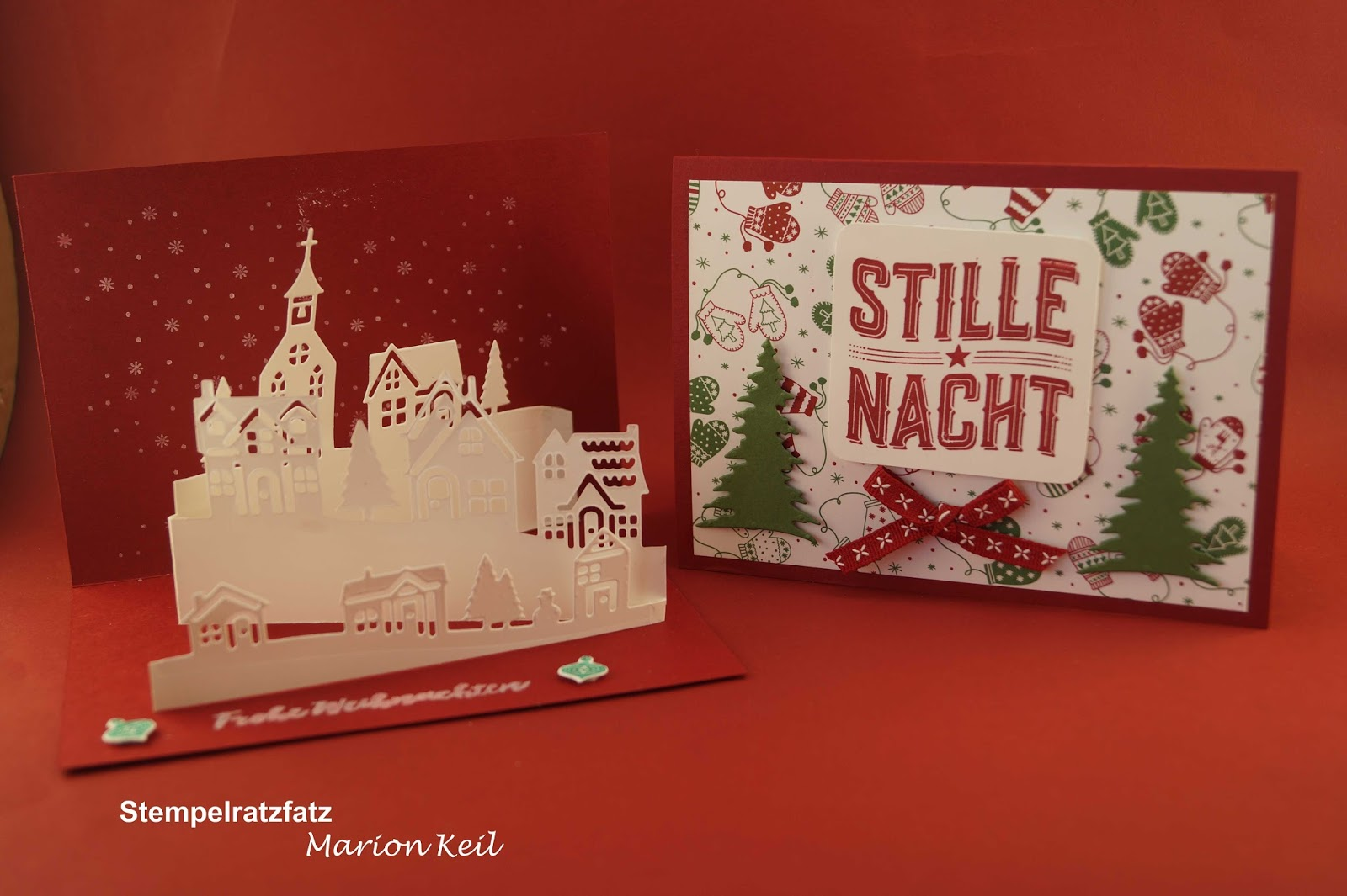 Stempelratzfatz kreativ mit stampin up - Weihnachtskarten kreativ ...