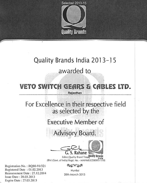 Quality Brands India 2013-15