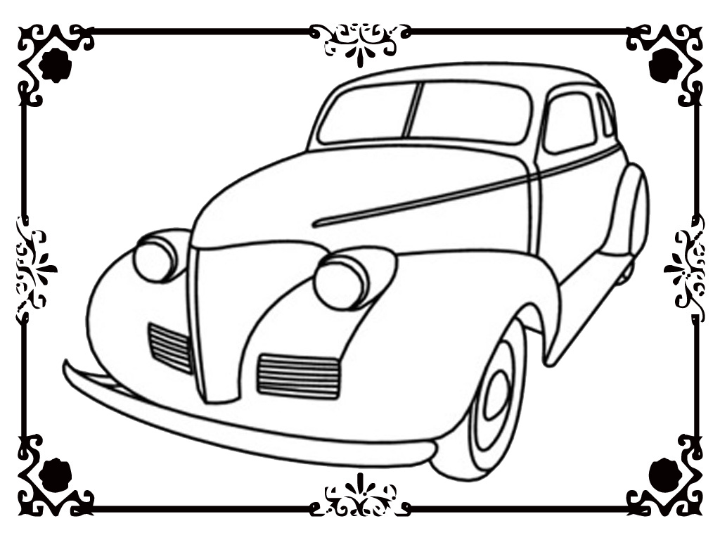 Old Cars Pages Coloring Pages