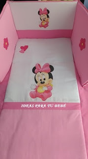 Edredon cuna minnie
