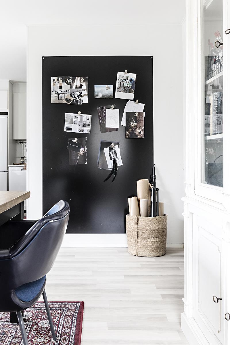 Avotakka, my home, oma koti, sisustus, sisustusinspiraatio, valokuvaaja, Frida Steiner, Visualaddict, interior, inredning, interior4all, interiorinspiration, inspiraatio, moodboard, magneettitaulu, työhuone, ruokailutila