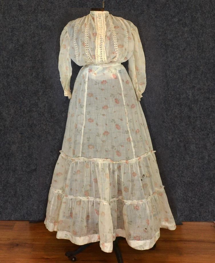 All The Pretty Dresses: Cute Sheer Floral Edwardian Dress