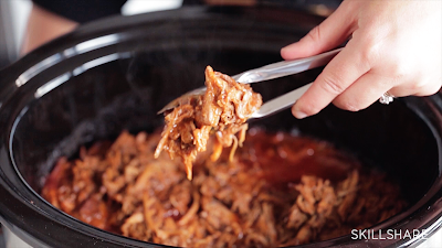 What's the secret to amazing pulled pork in the slow cooker? You don't add any liquid!