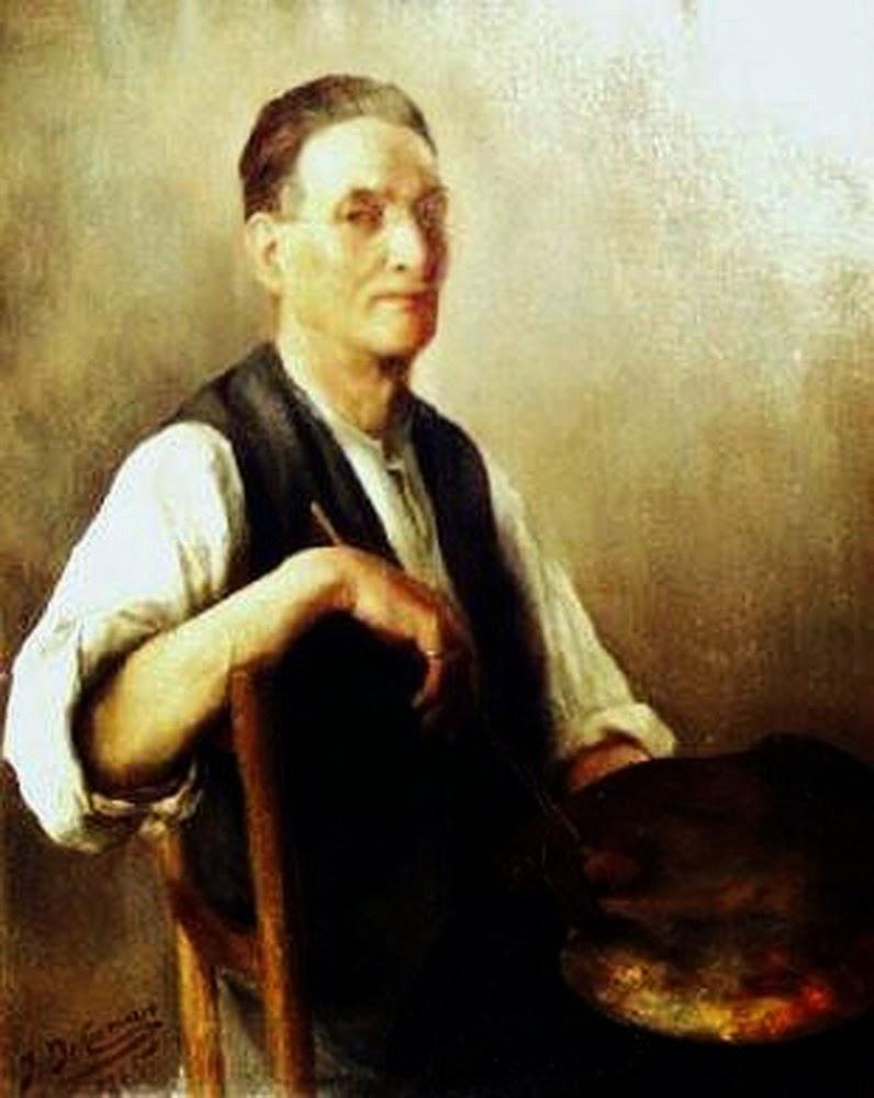 Johannes Paasuke, Self Portrait, Portraits of Painters, Fine arts, Portraits of painters blog, Paintings of Johannes Paasuke, Painter Johannes Paasuke
