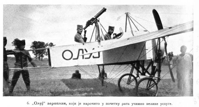"""Oluj"" aeroplane, which did good service at the commencement of the war"