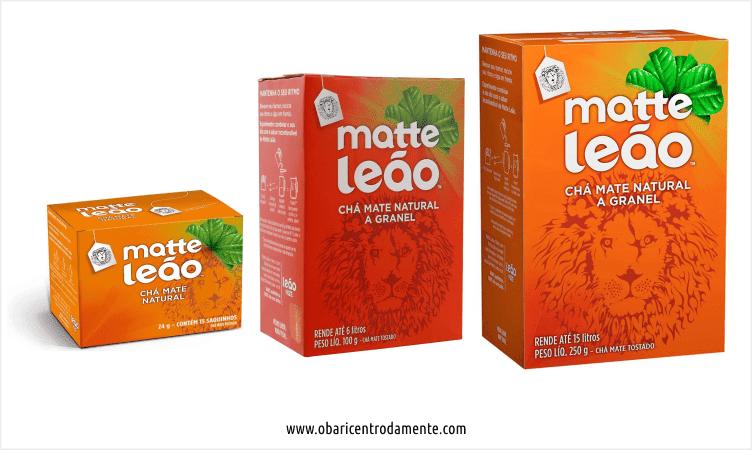 Comparação entre embalagens de chá