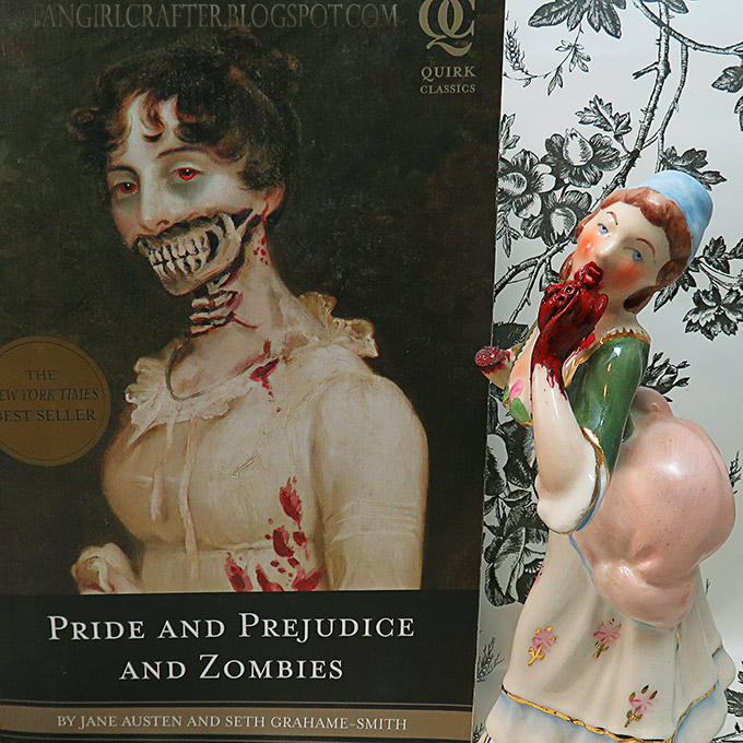 Zombiefied porcelain figurine