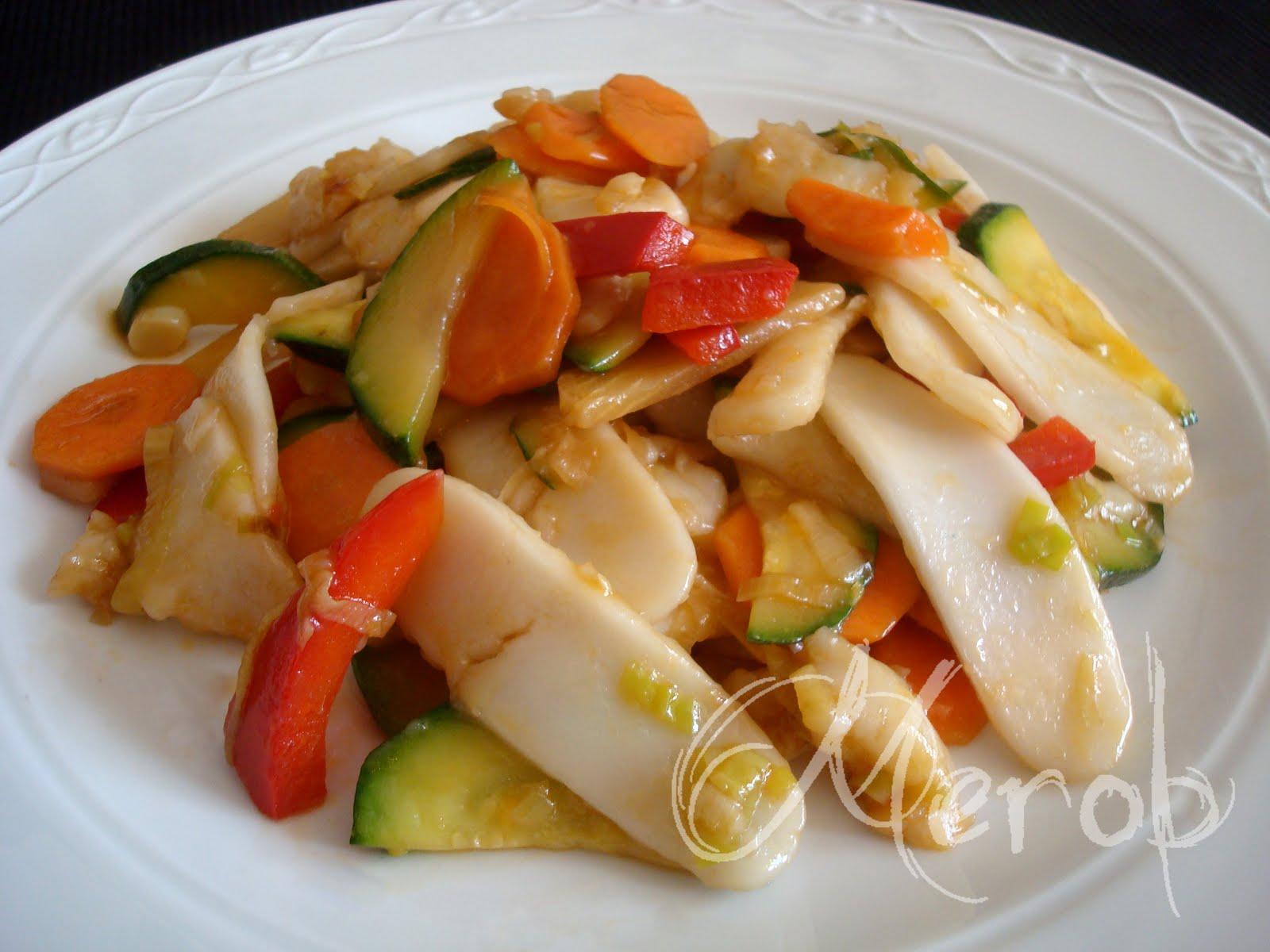 La cucina di merob gnocchi di riso saltati con verdure cina for Una salsa da cucina cinese