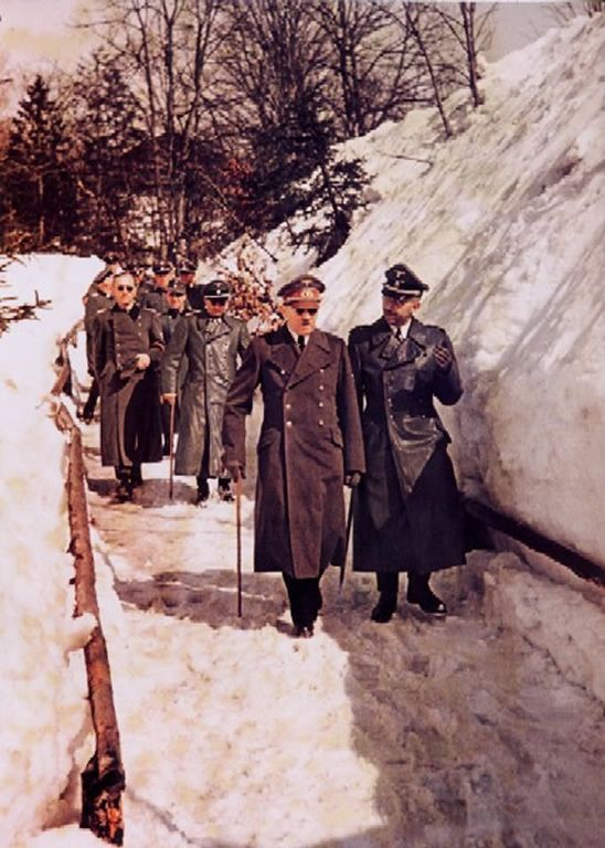 Hitler Himmler Obersalzberg Color Photos World War II worldwartwo.filminspector.com