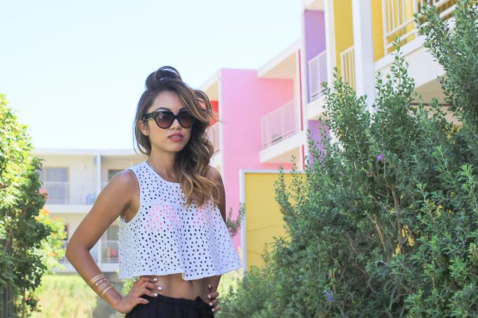 Koolaburra Dita Sandals, Prada Poeme sunglasses, Triangl Pink Rush, beautybitten