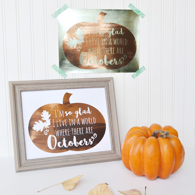 Two-color Minc fall wall art, including free printable by Aly Dosdall. #hsminc #foilallthethings #falldecor #fallcrafts #freeprintable