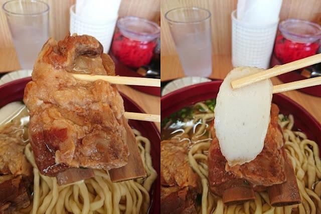 本ソーキとカマボコの写真