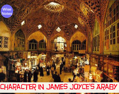 the role of characterization in araby by james joyce Free essay: setting in james joyce's araby in the opening paragraphs of james  joyce's  the setting of a short story is vital to the development of character.