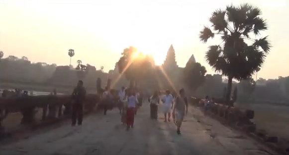 Exploring Angkor Wat at the Temples of Angkor, Siem Reap Province, Cambodia